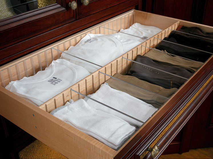 Разделители для ящика комода своими руками