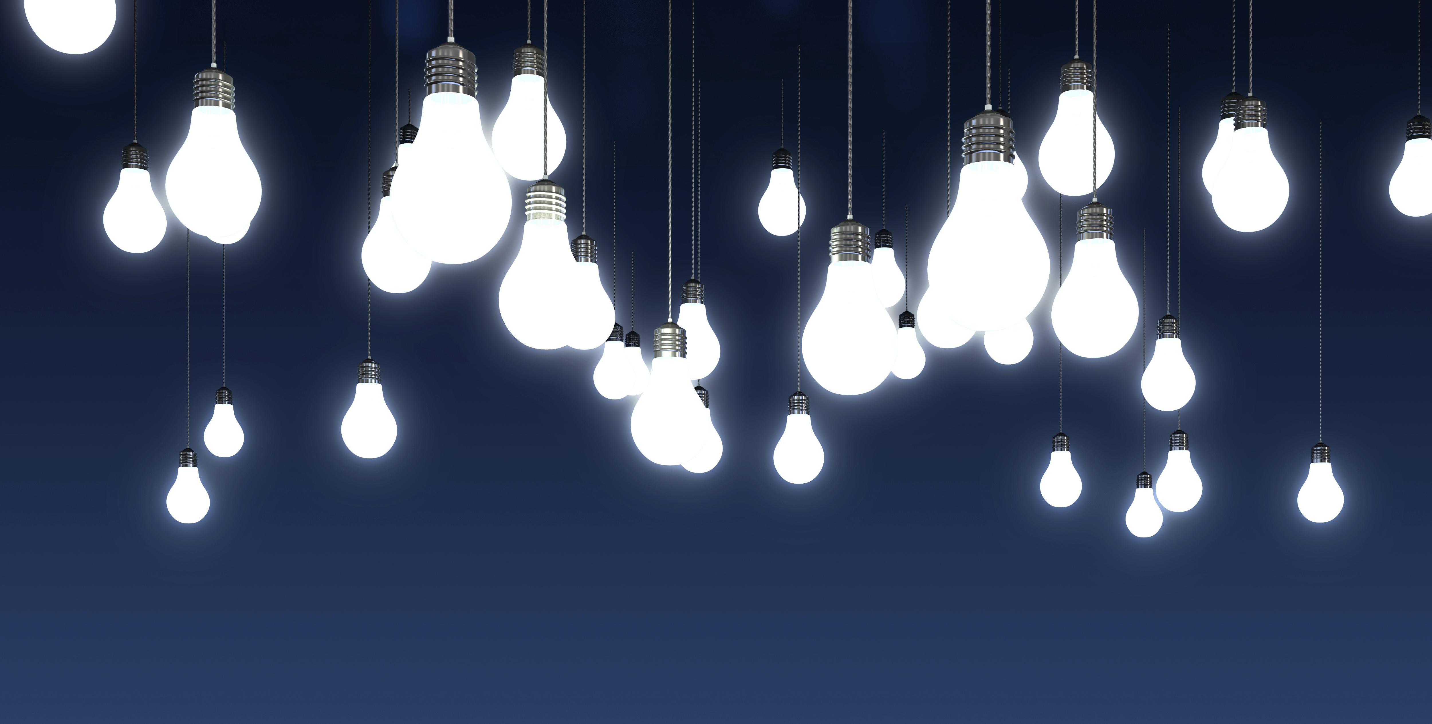 Поздравление от лампочек