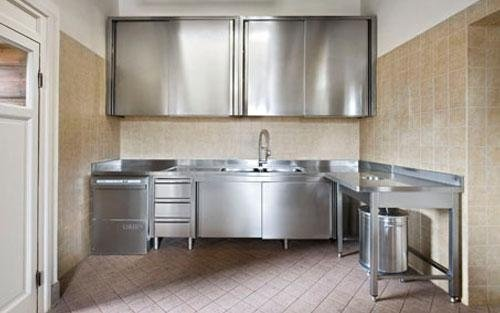 Cucine In Acciaio Inox. Free Tavolo In Acciaio Inox Per Cucina ...