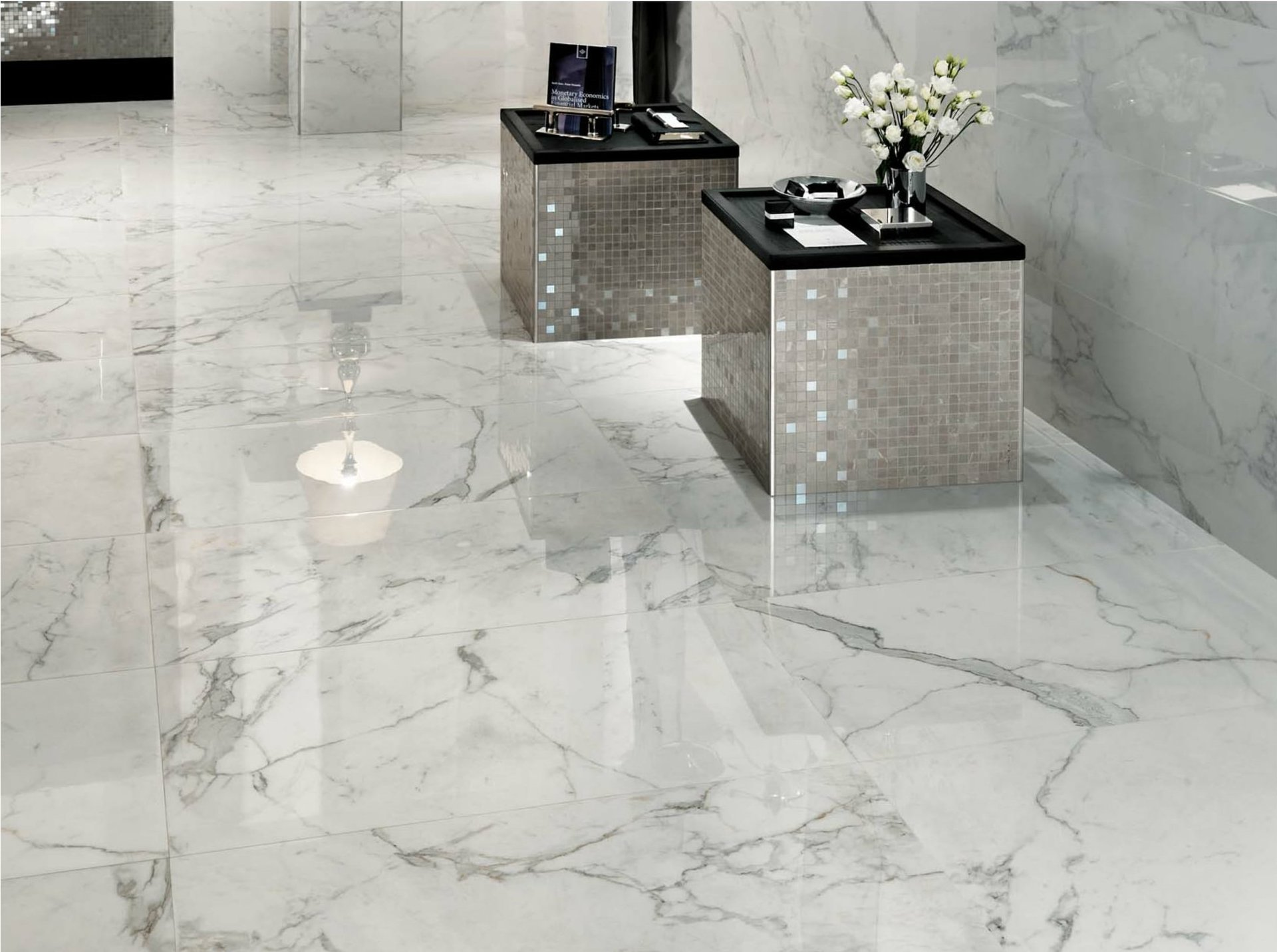 Silestone floor tiles