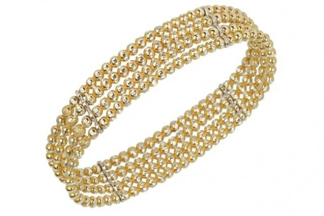 bracciale palladio golden in argento color oro
