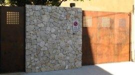 Cancello carrabile pedonale acciaio Cor-ten