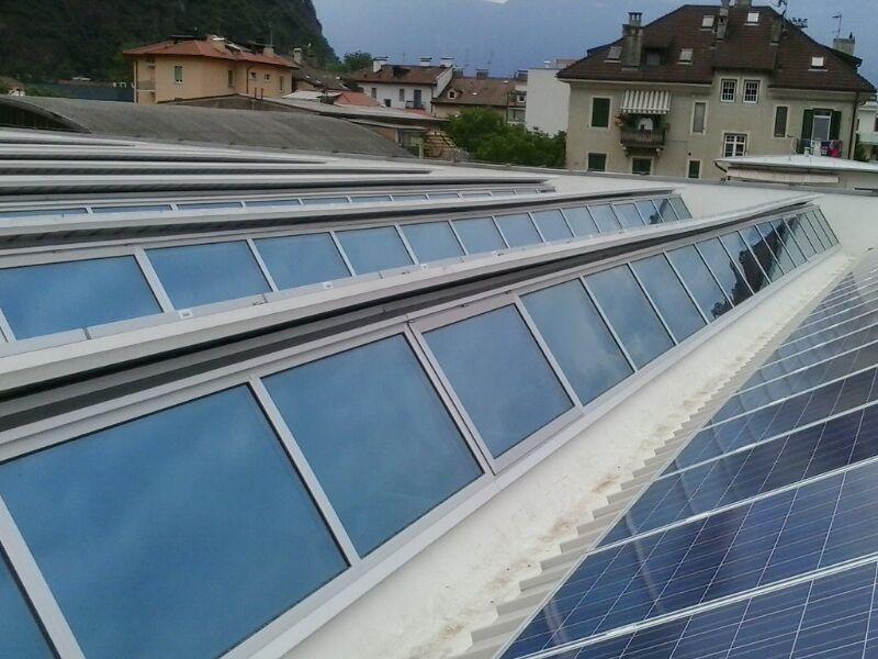 copertura a shed per edifici prefabbricati