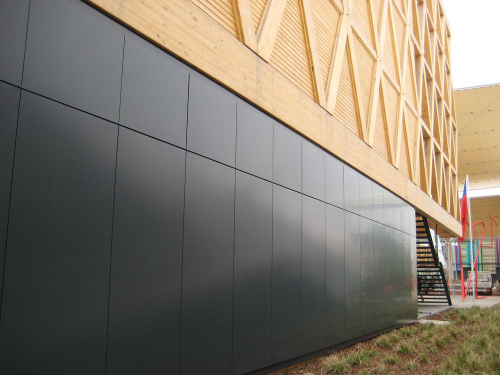 muro a pannelli compositi