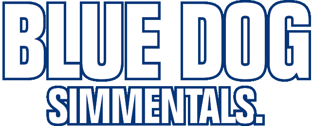 Blue Dog Simmentals Logo