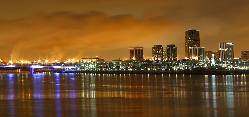 Long Beach CA Night Shot