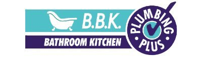 b b k bathroom kitchen plumbing plus business logo