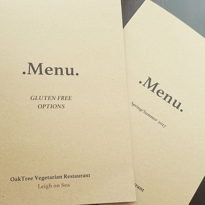 Full Gluten Free menu available - Just ask!