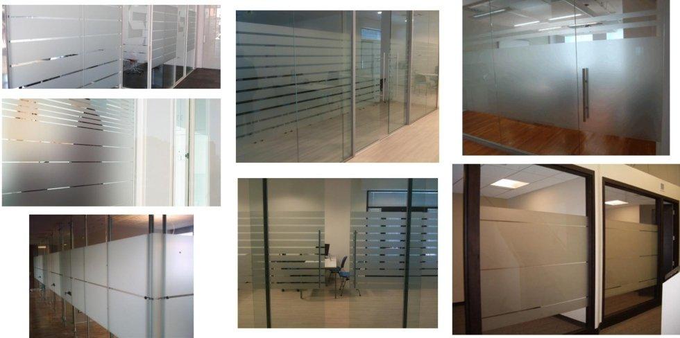 vetrate satinate per negozi ed uffici