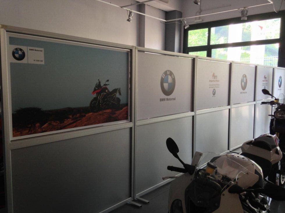 parete divisoria con serigrafia
