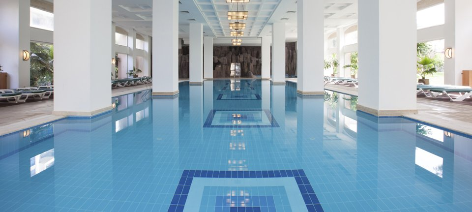 luxury indoor commercial pool complex