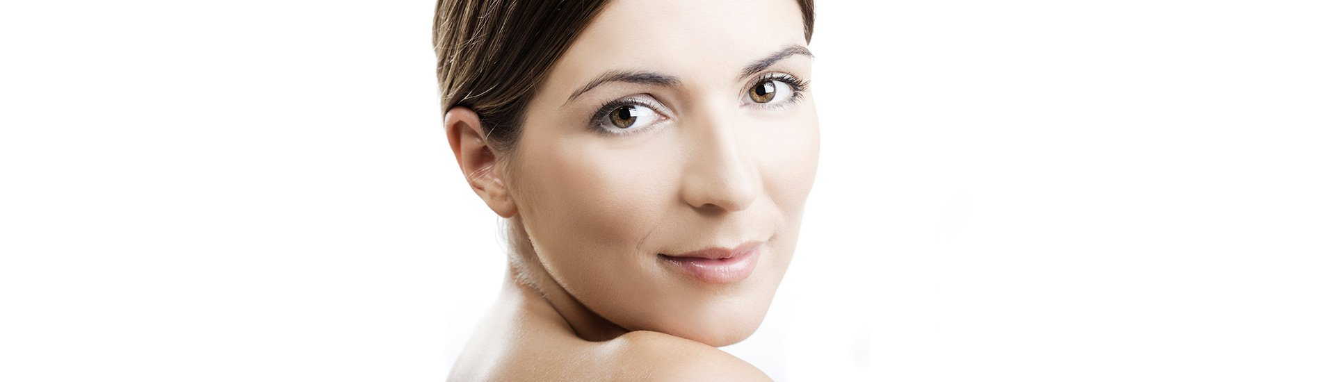 a lady with blemish-free skin