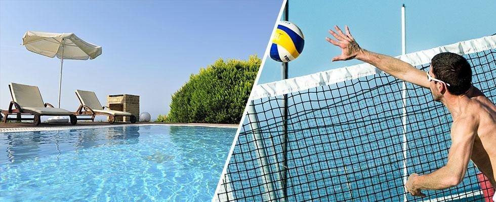 piscina e campi da beach volley