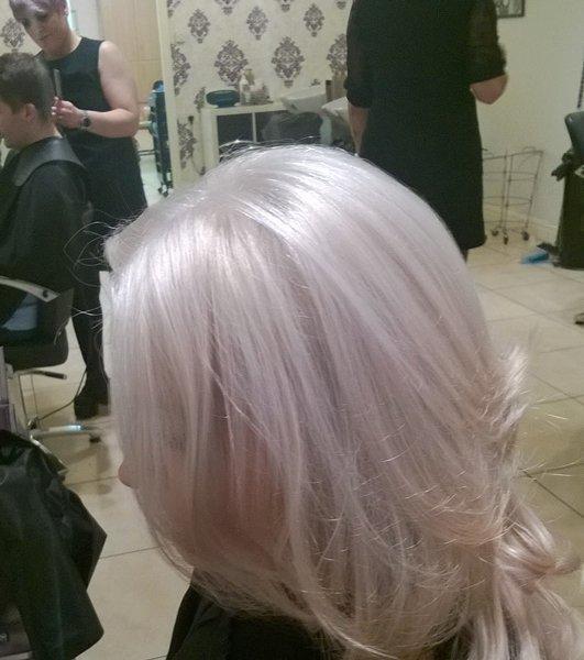 silver colour hair
