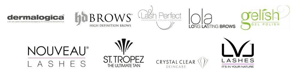 Associated brand logos