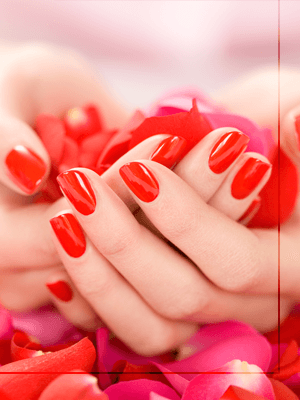 Beautiful red nails