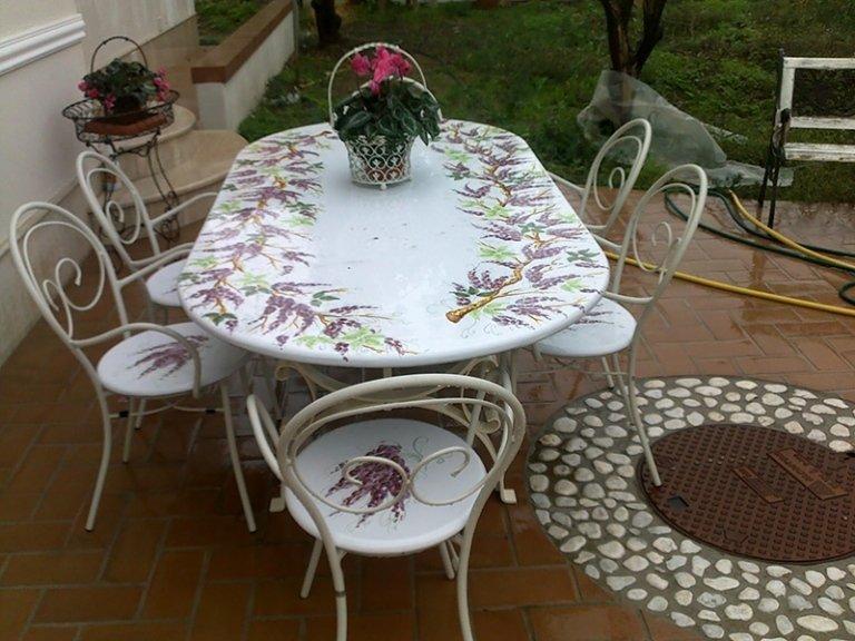 tavolo ovale in pietra per esterno