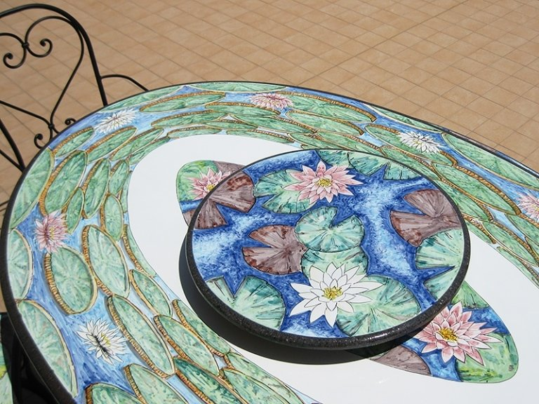 dettaglio di fiori decorati