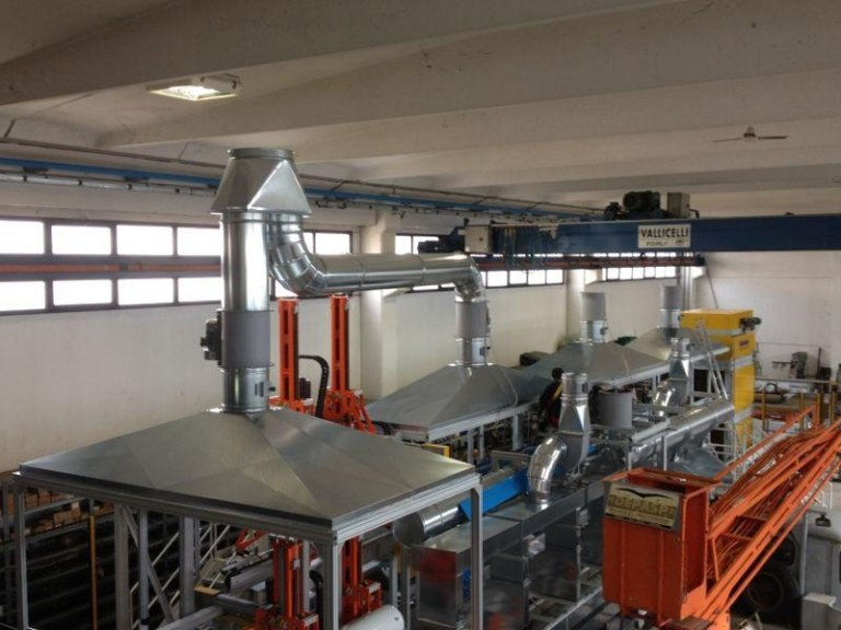 Sistema di estrazione e immissione aria
