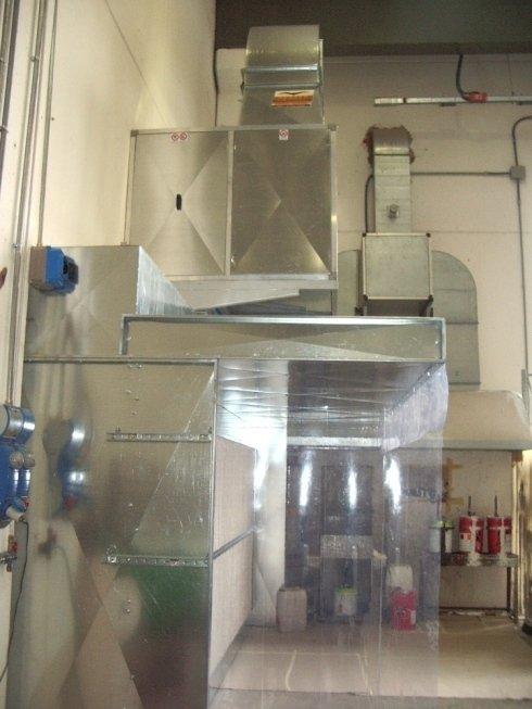 Impianto filtrazione verniciatura a spruzzo