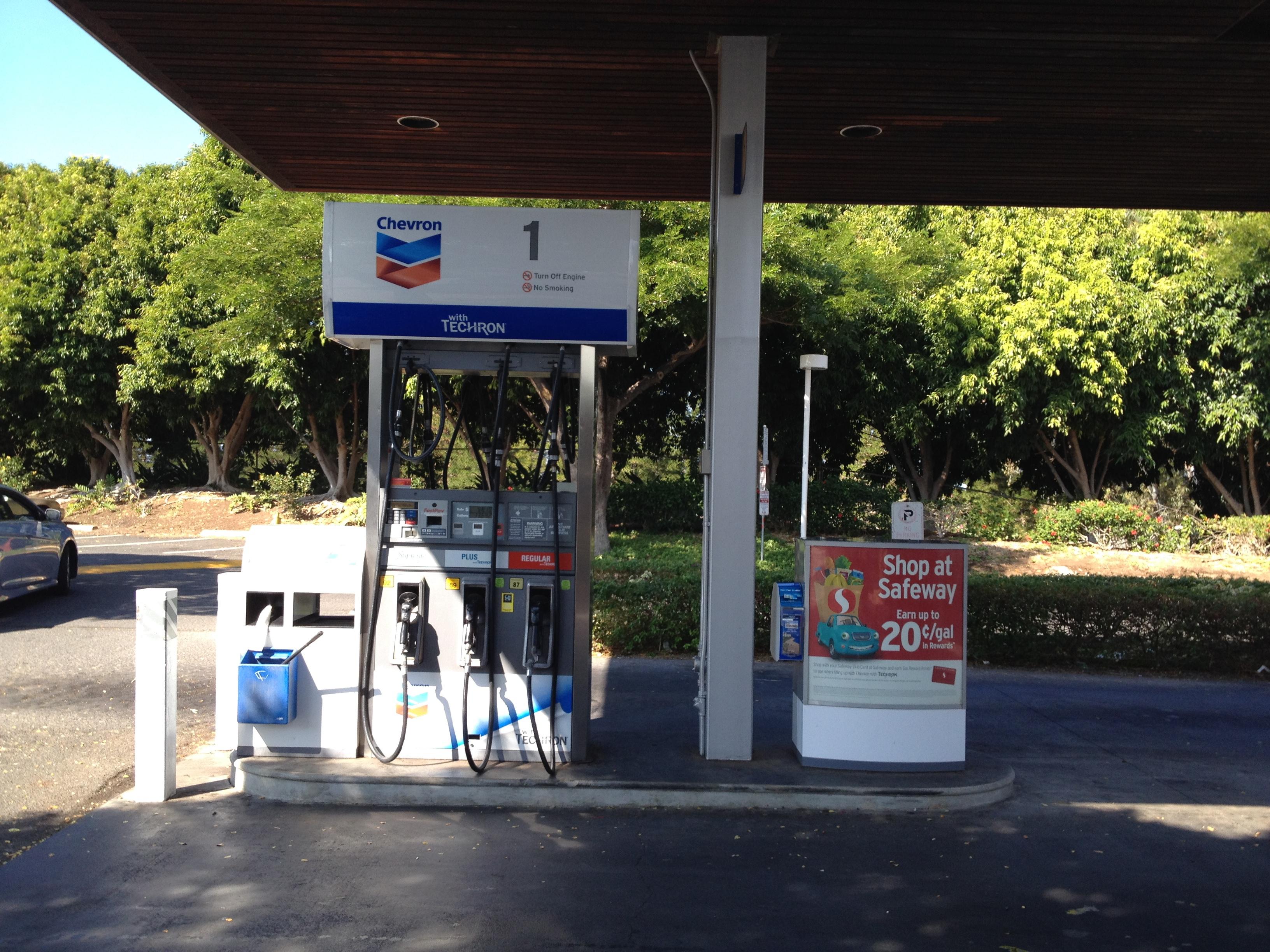 Gasoline service in Waikoloa.