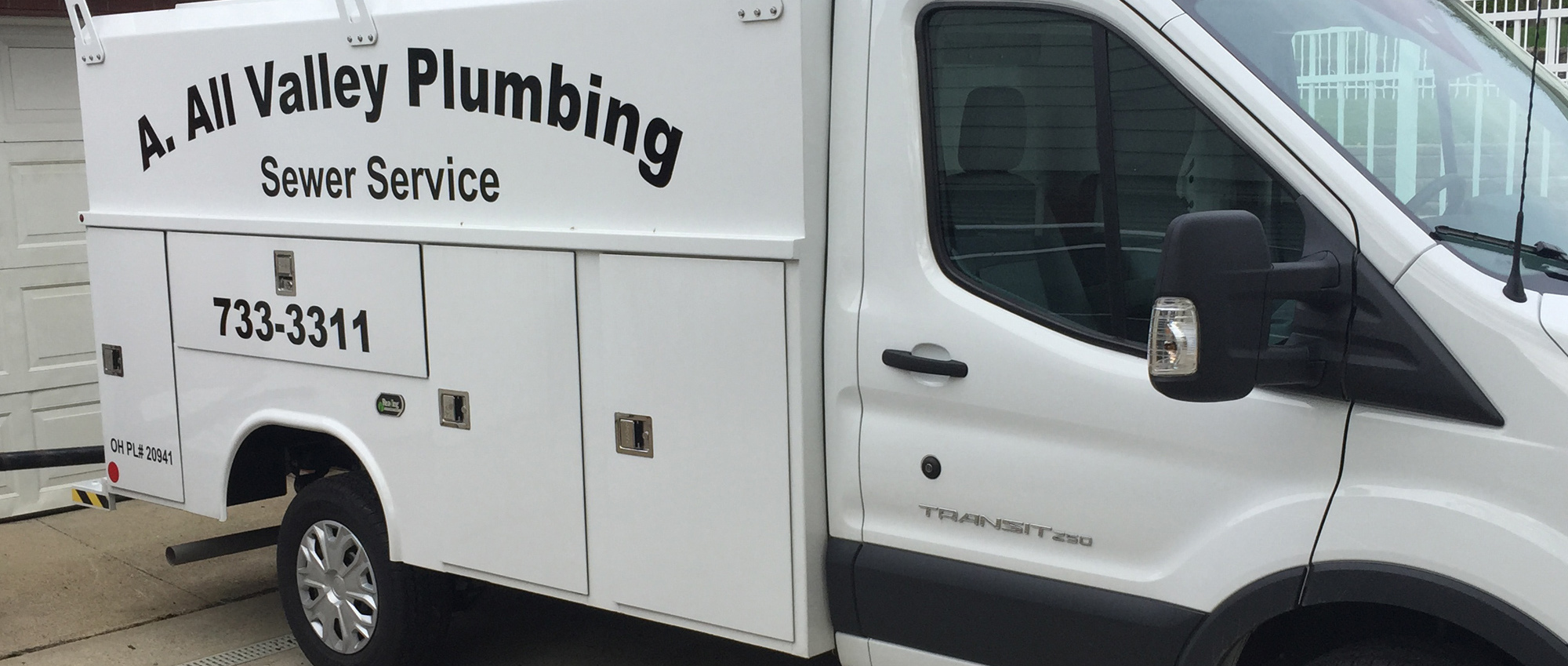 A All Valley Plumbing company's van in it's way to provide fantastic septic services in Cincinnati, OH