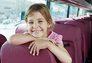 A girl in the coach