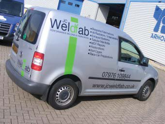 rear view of vehicle wrap