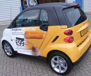 yellow car wrap