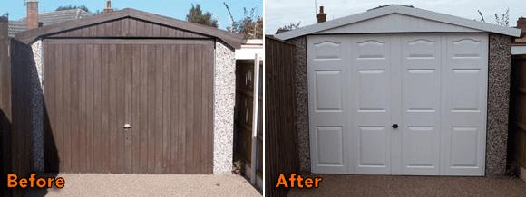 Garage door after repairs in Fife