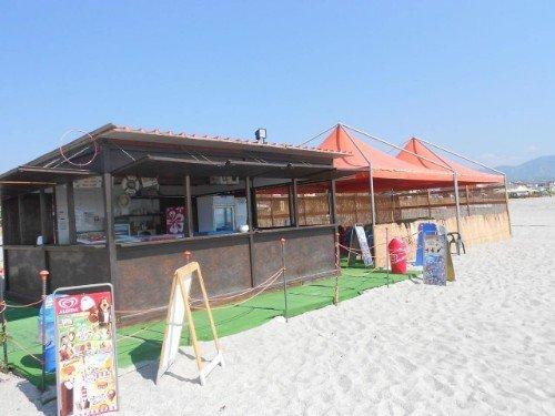 chiosco sulla spiaggia privata