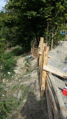 palizzate in legno, costruzione di palizzate