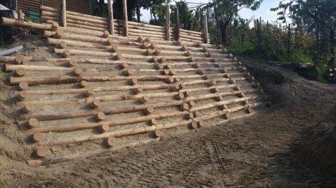 palificazioni in legno, palizzate in legno
