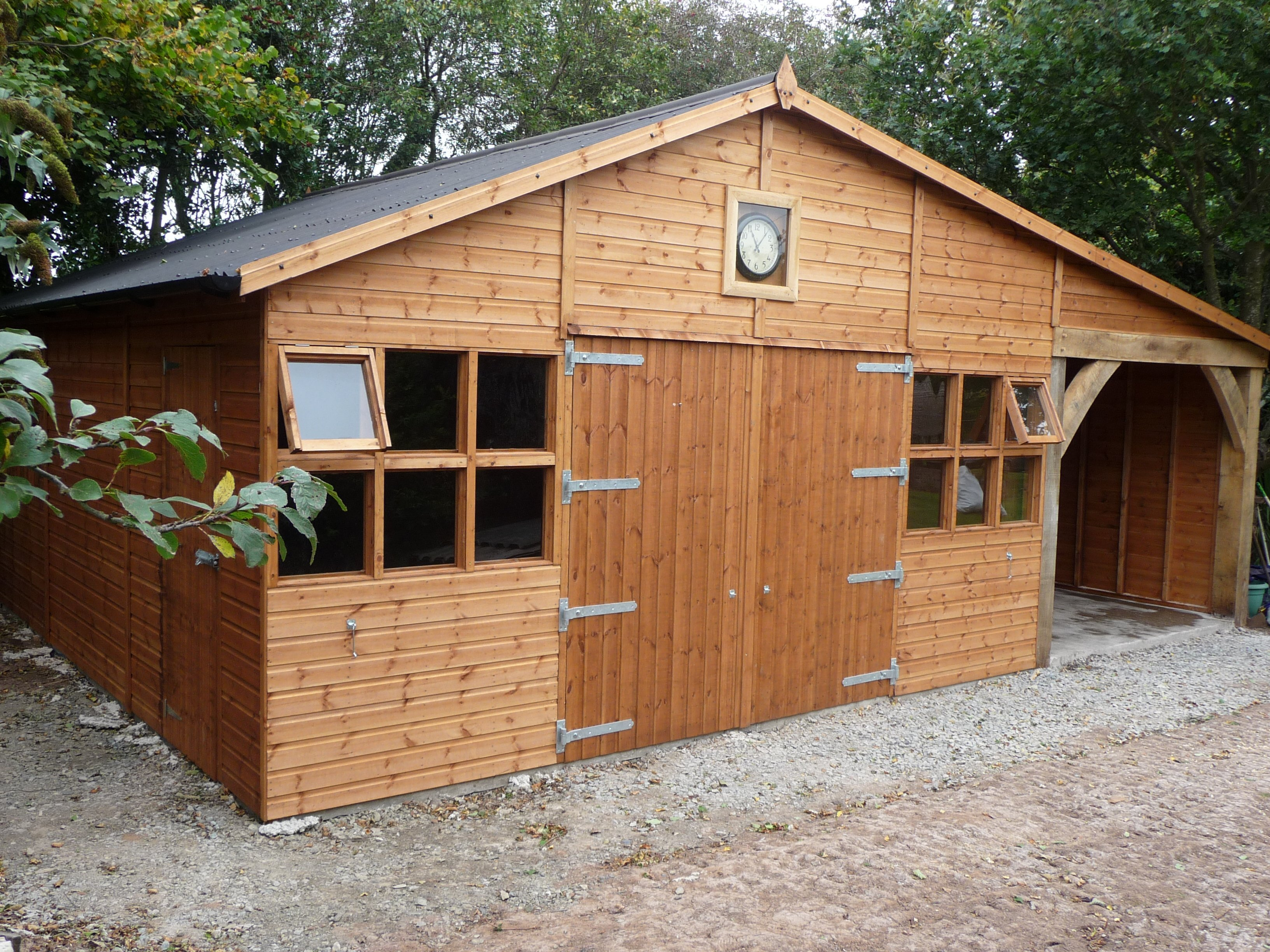 sturdy timber garage