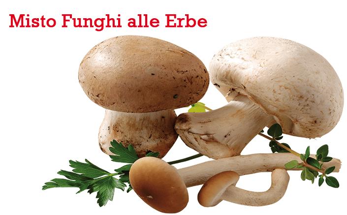 funghi misti alle erbe