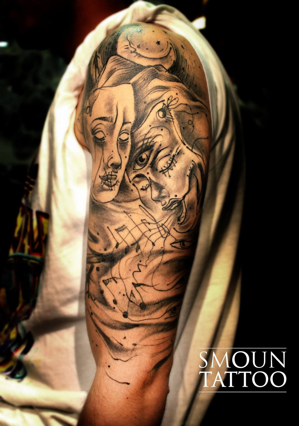 Abstract tattoo Smoun Tattoo a bari