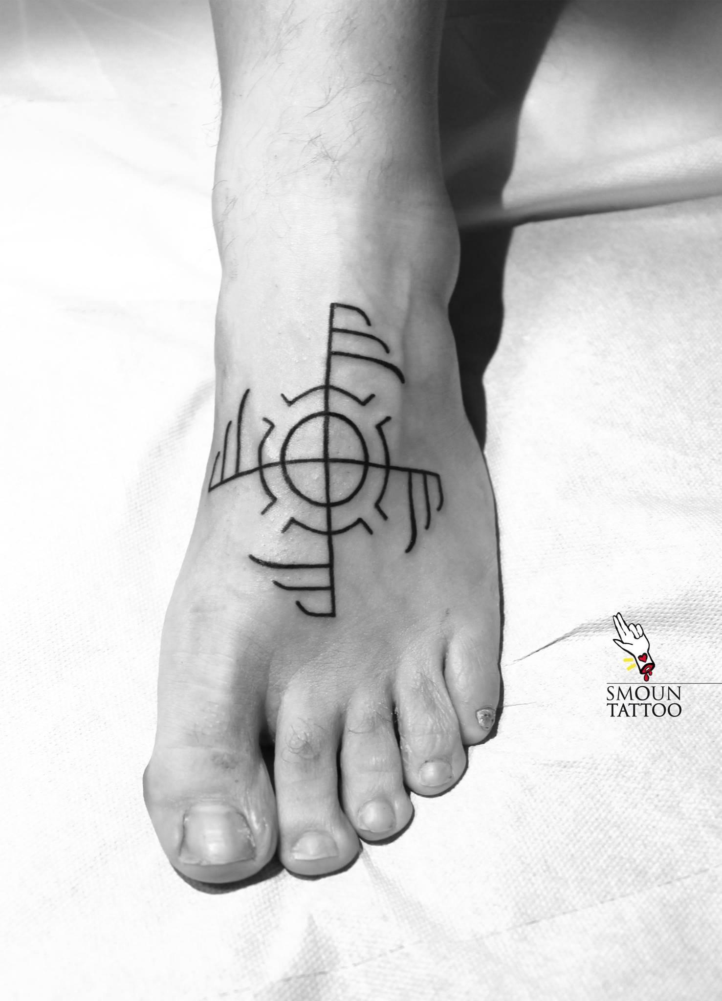 Lettering Tatuaggio Smoun Tattoo a Bari