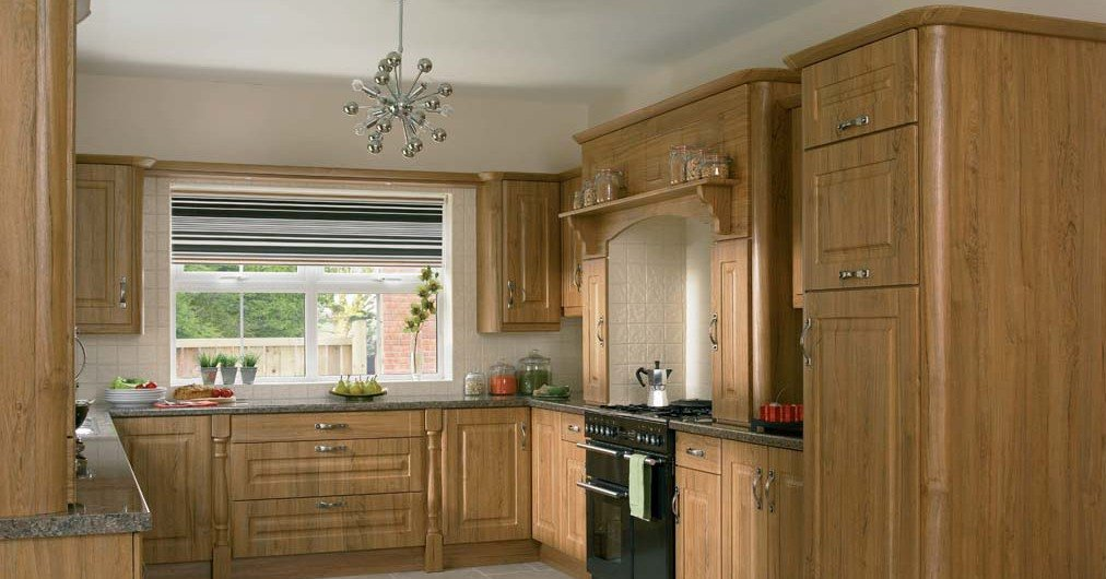 Traditional kitchen with wooden cabinets