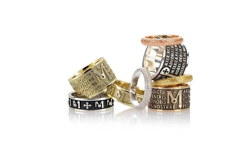 anelli decem origine tuam la fede oro argento tuum gioielli made in italy