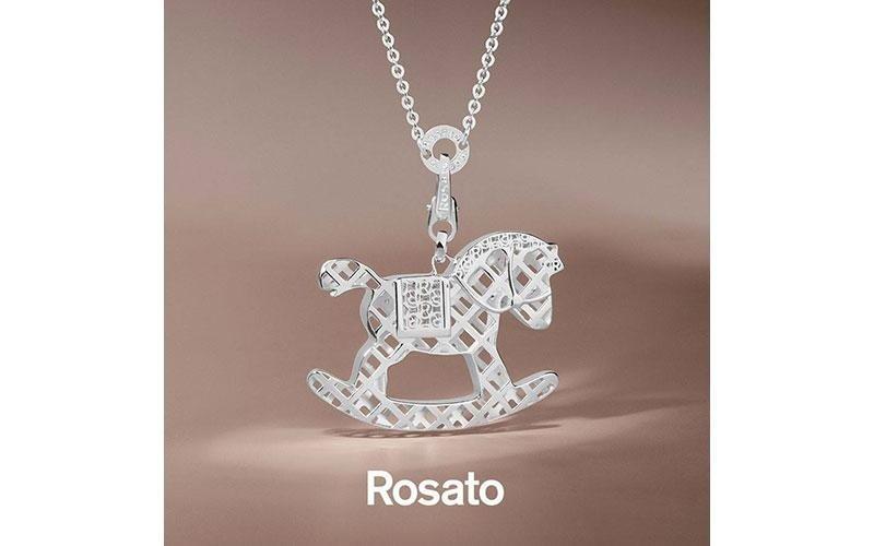 Collana ROSATO in argento 925