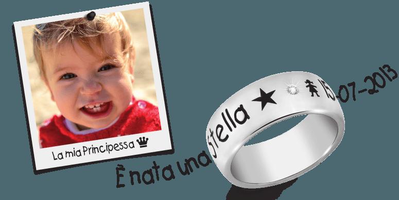 anello con scritta personalizzata genova