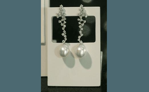 pendenti diamanti e perle
