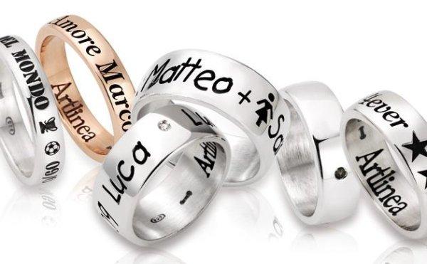anelli personalizzati