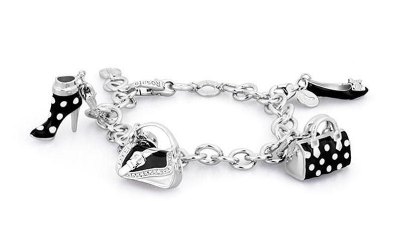 Bracciale ROSATO gioielli in argento con ciondoli