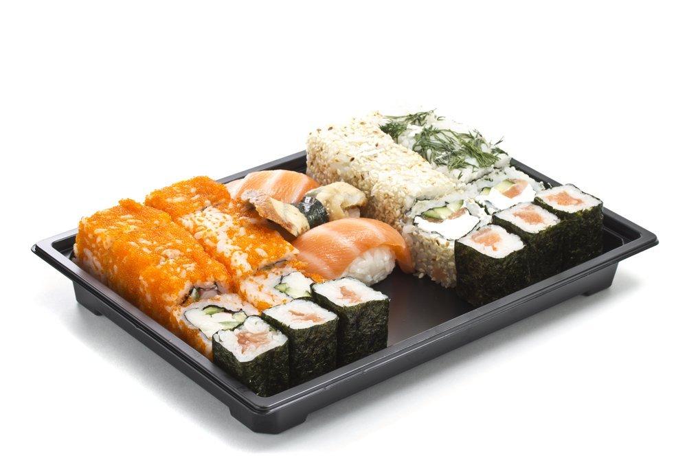vassoio di cibo giapponese