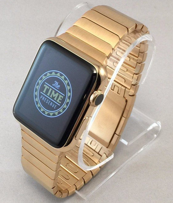 Gold plated Apple watch and link bracelet The Time Preserve