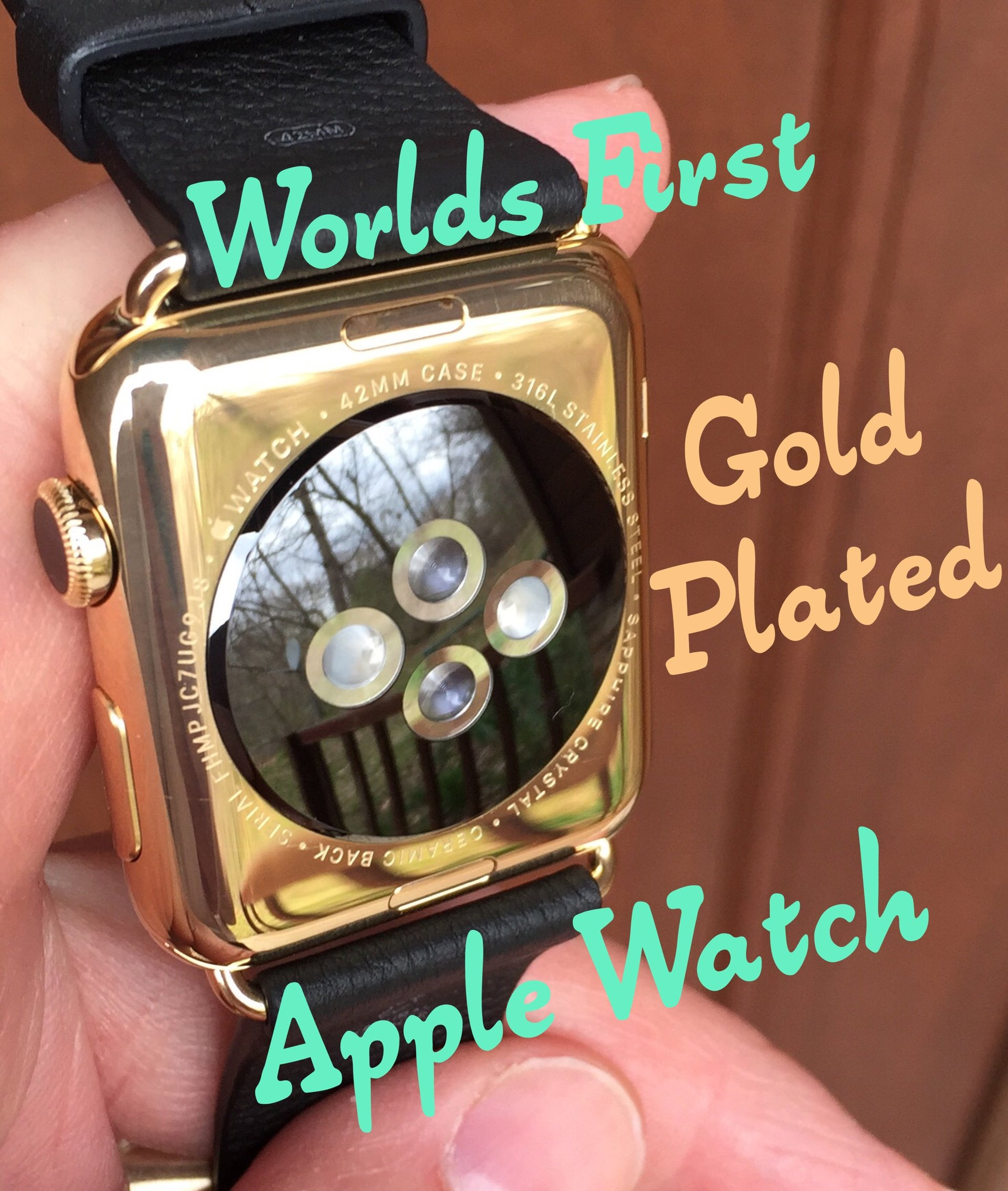 Worlds first Gold plated Apple watch The Time Preserve