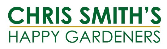 chris smiths happy gardeners business logo