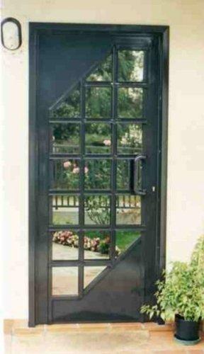 porta blindata con vetrata