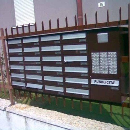 cassette lettere condominio in ferro